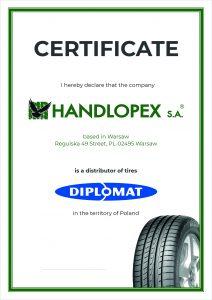 Handlopex Diplomat Certifikát