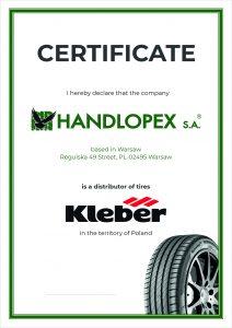 Handlopex Kleber Certifikát