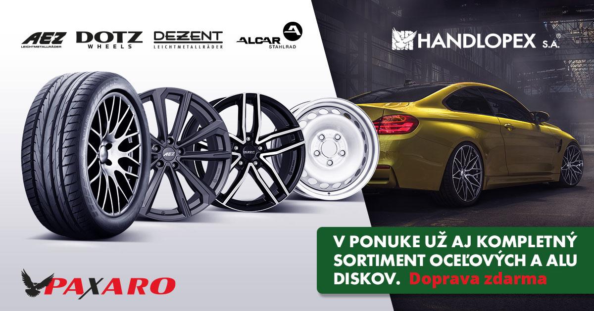Handlopex oceľové ALU disky